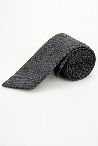 cravatta grigia a rombi lana-seta Angelico