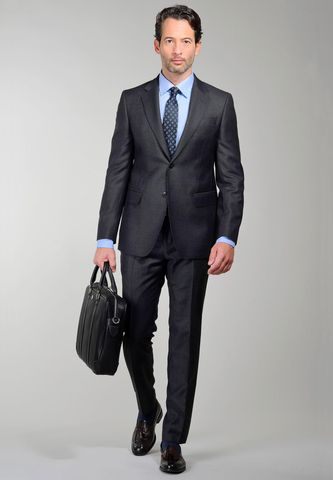 Dark Grey suit birds-eye pattern Angelico