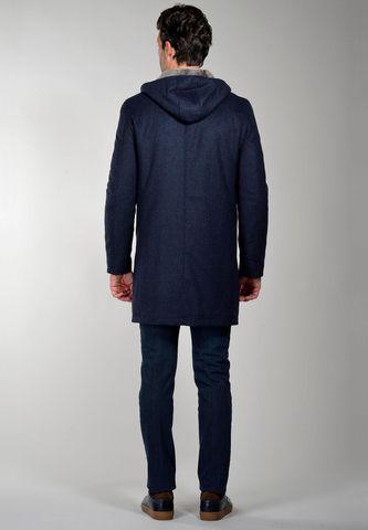 cappotto blu quadretti cappuccio e pelliccia Angelico