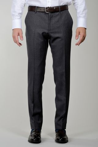 Grey trousers sallia Tasmania wool comfort Angelico