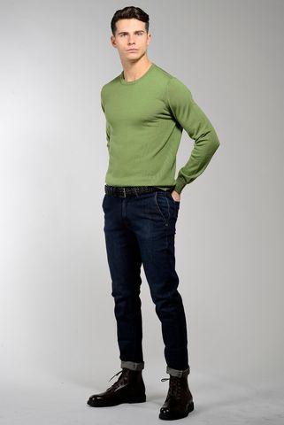 green round- neck pullover merino Angelico