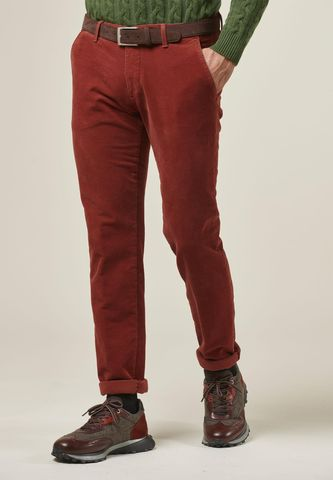 brick trousers structured fustian slim Angelico
