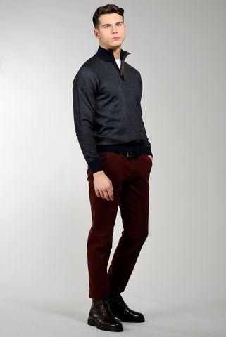 Lupetto blu zip lana-cashmere sale-pepe Angelico
