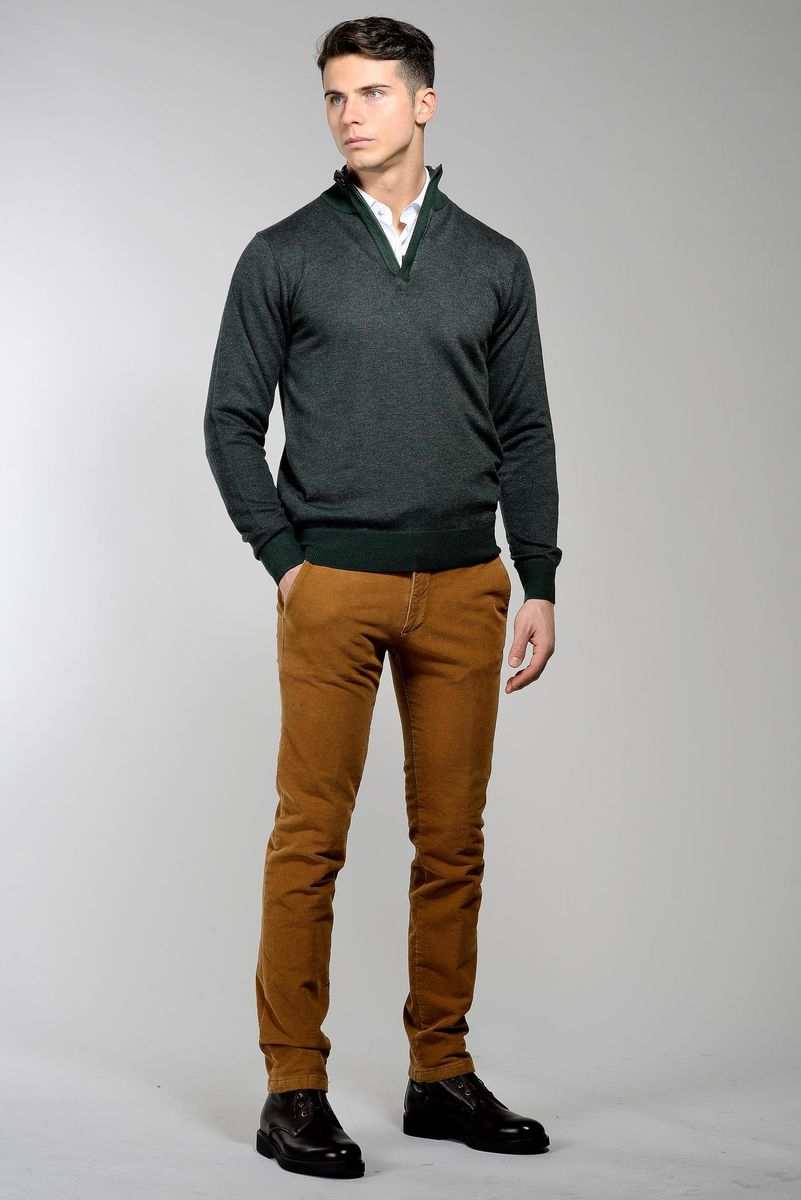lupetto verdone zip lana-cashmere sale-pepe Angelico
