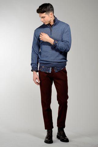 lupetto jeans zip lana-cashmere melange Angelico
