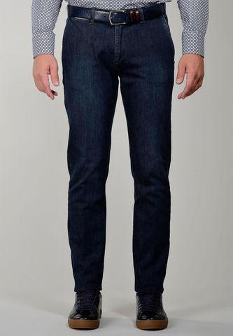 Blue washed jeans side pockets slim Angelico