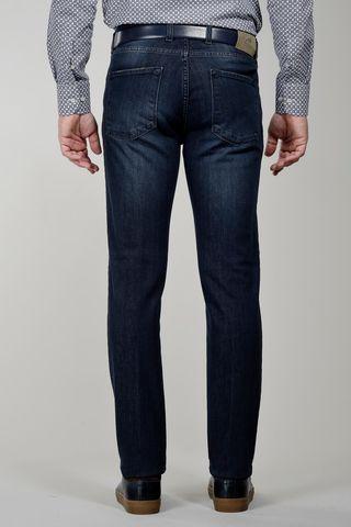 jeans blu scuro 5 tasche delave slim Angelico