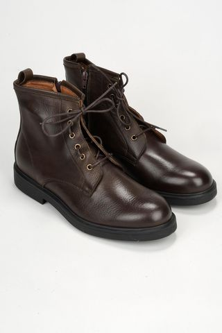 brown leather ankle boot Angelico