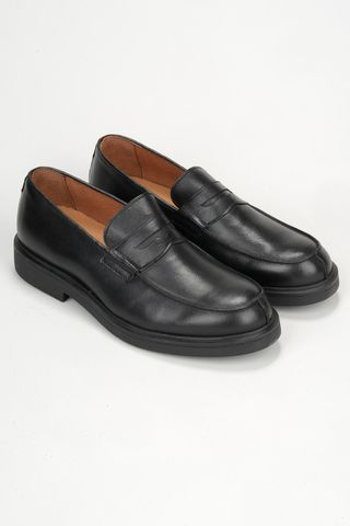 black calf moccasin with rubber sole Angelico