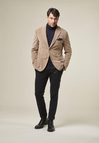 giacca beige fustagno tinto capo Angelico