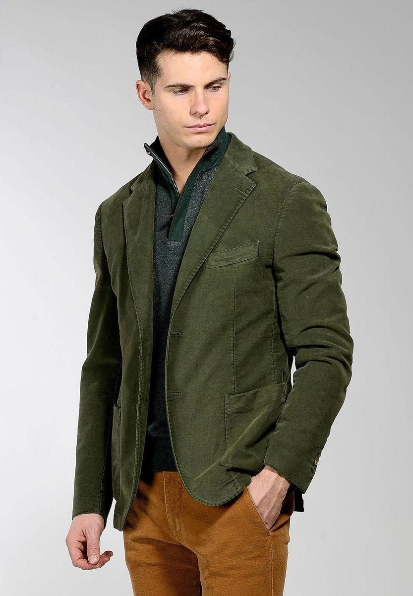 giacca verde oliva fustagno tinto capo Angelico