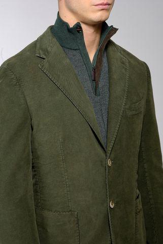 olive moleskin jacket Angelico