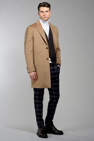 Cappotto cammello 2 bottoni lana-cashmere Angelico