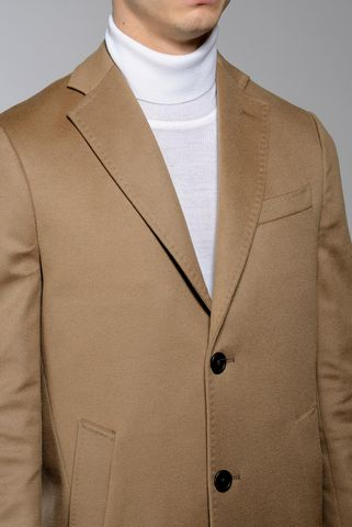 camel coat with 2 buttons wool-cashmere Angelico