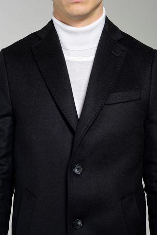cappotto nero 2 bottoni lana-cashmere Angelico