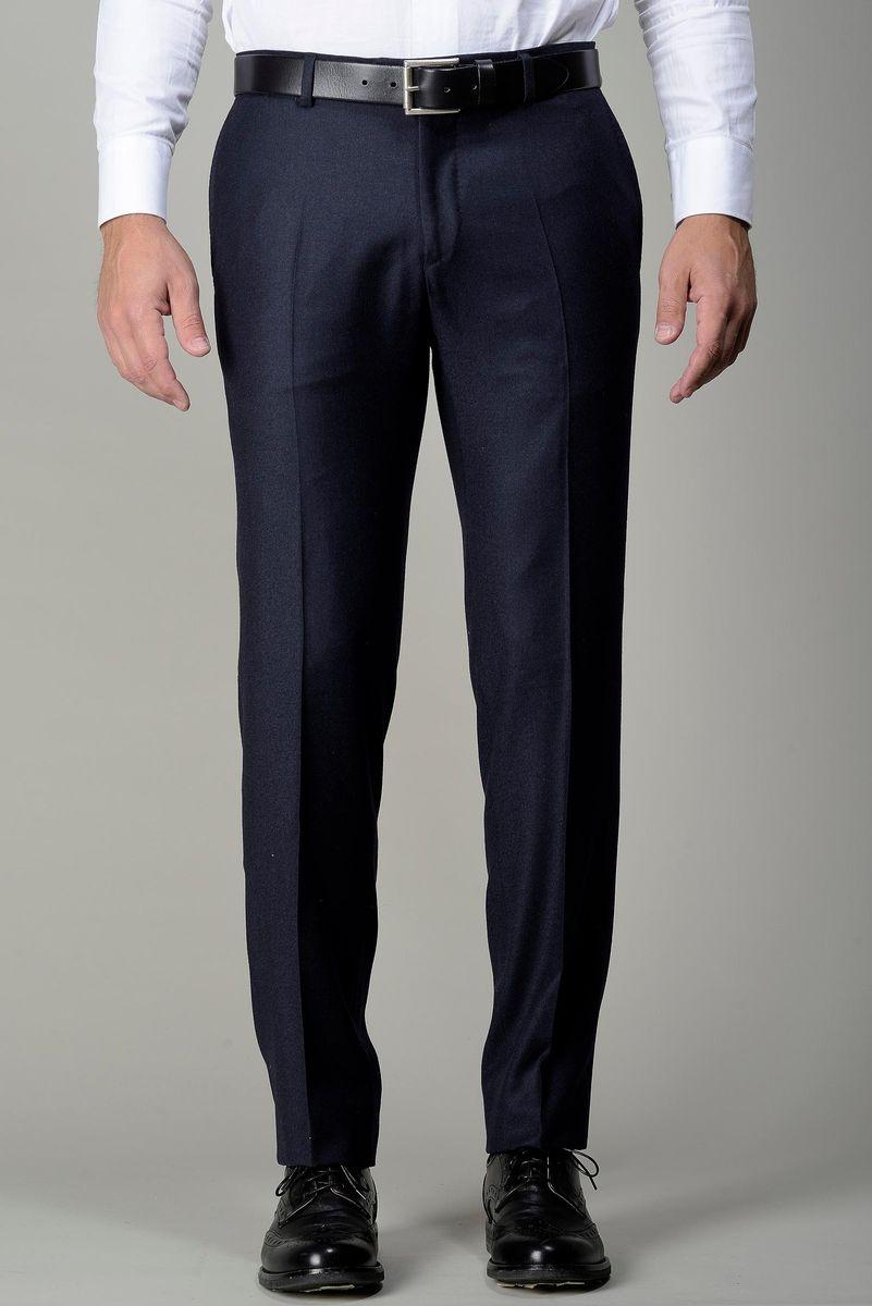 pantalone blu scuro flanella slim Angelico
