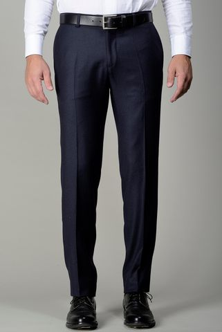 Dark blue flannel trousers slim Angelico
