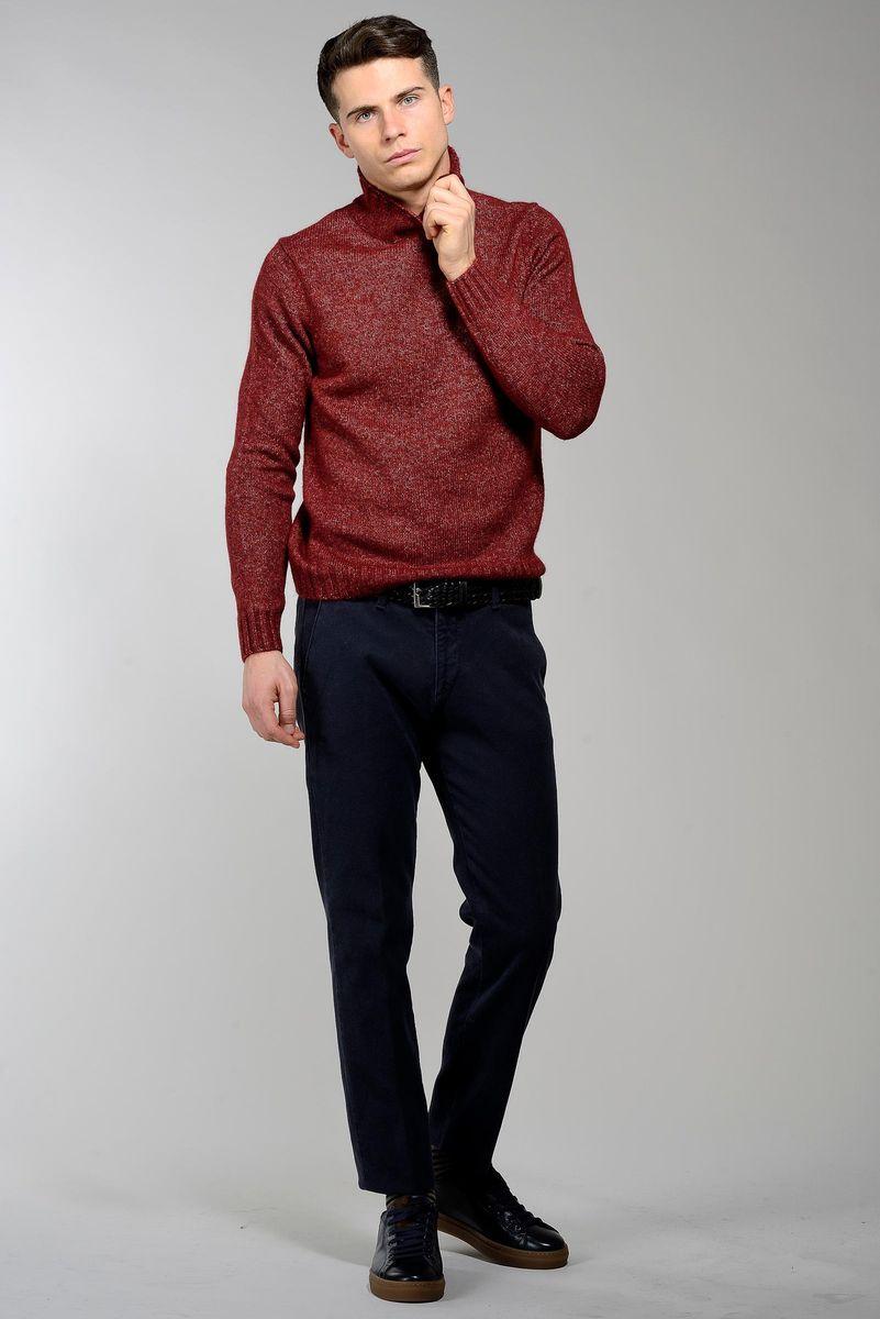 lupetto rosso scuro cotone-lana-alpaca Angelico