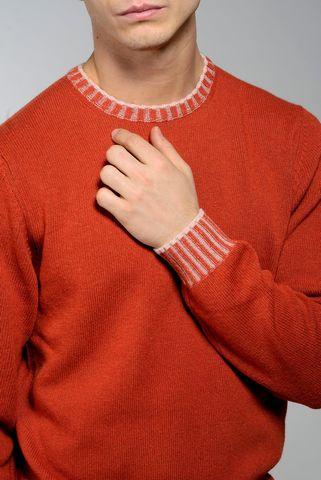 maglia mattone girocollo bordi alti Angelico
