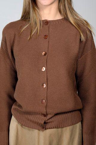 cardigan tabacco chanel lana merino Angelico