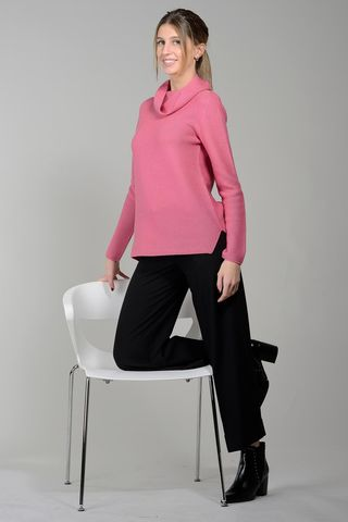 fuchsia donut turtleneck merino wool Angelico