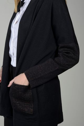 black shawl cardigan bronze sleeves Angelico