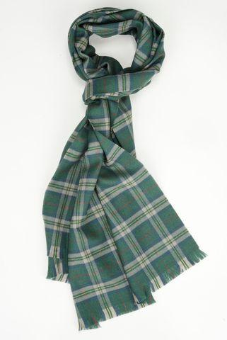 green scarf medium plaid wool Angelico