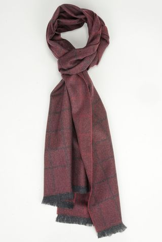 amaranth scarf window pattern wool Angelico