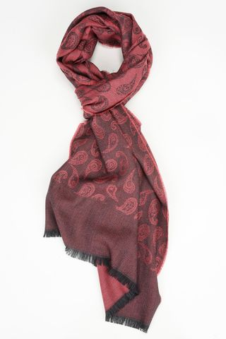 red scarf with black drops motifs Angelico