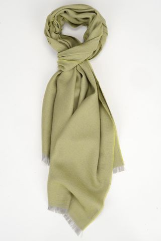 green wool-cashmere scarf Angelico
