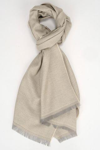 sciarpa naturale lana-cashmere unita Angelico
