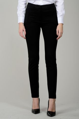 black tight stretch trousers Angelico