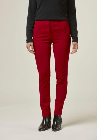 red tight stretch trousers Angelico