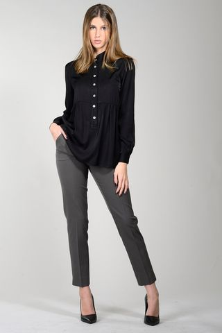 korean black viscose shirt Angelico