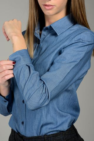camicia jeans chambry donna Angelico