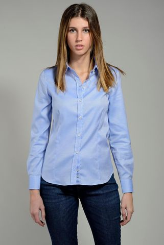 women's azure shirt oxford stretch Angelico