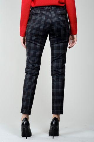 pantalone galles grigio-mattone con risvolto Angelico