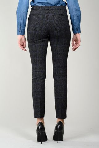 pantalone grigio-blu galles sigaretta elasticizzato Angelico