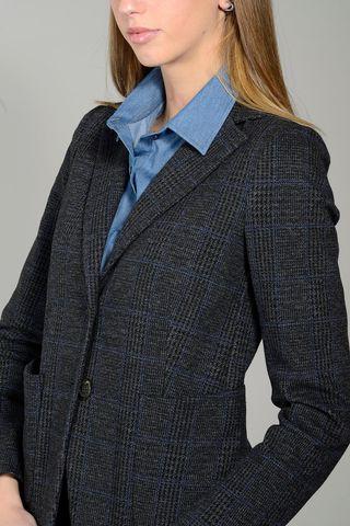 giacca grigia-blu galles elasticizzata Angelico