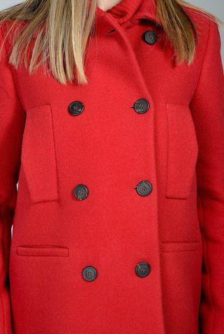 giacca rossa caban doppiopetto Angelico