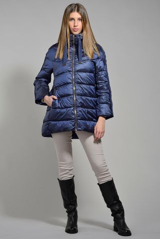 blue high neck eco-down jacket Angelico