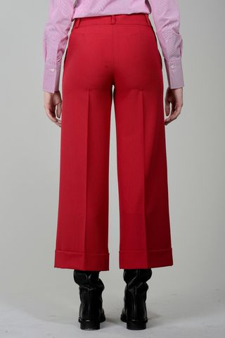 pantalone rosso cropped Angelico