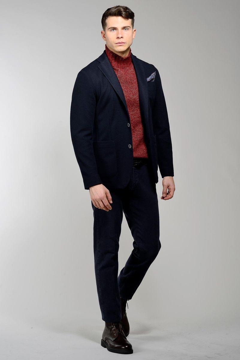 giacca blu 2 bottoni armatura stretch slim Angelico