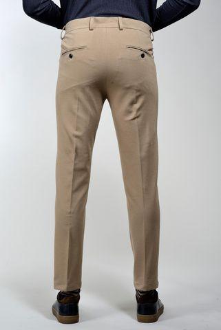 pantalone cammello doppia pinces slim Angelico