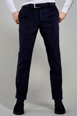 Pantalone blu velluto Duca Visconti di Modrone Angelico