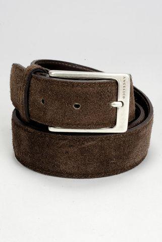 brown suede belt Angelico