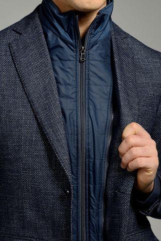 giacca blu pettorina lana armaturata Angelico