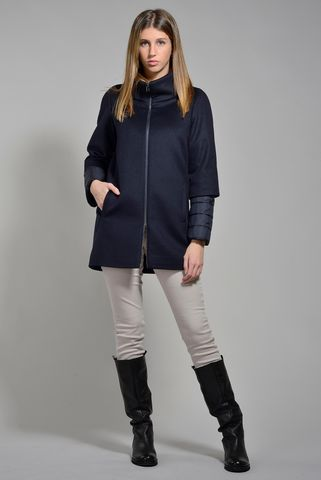 korean navy coat double sleeves Angelico