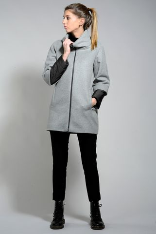 korean pearl grey coat double sleeves  Angelico