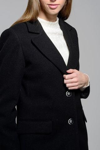 black coat 2-buttons Angelico